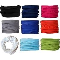 Scott Edward 9pcs Headbands Headwear elástico Magia Bufanda Bandana Máscara de Deportes Yoga sin Costuras Color Sólido