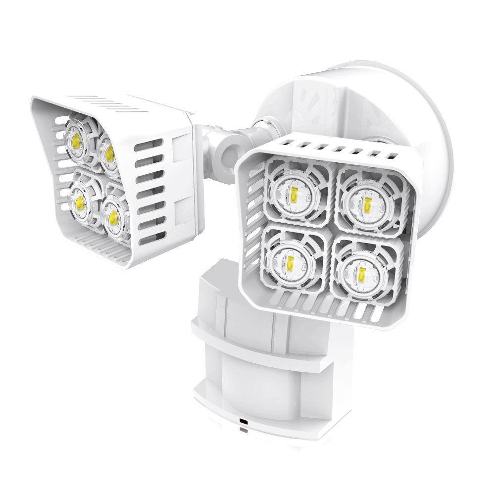 SANSI LED Security Motion Sensor Outdoor Lights, 30W (250W Incandescent Equivalent) 3400lm, 5000K Daylight, Waterproof Flood Light, ETL Listed, White …