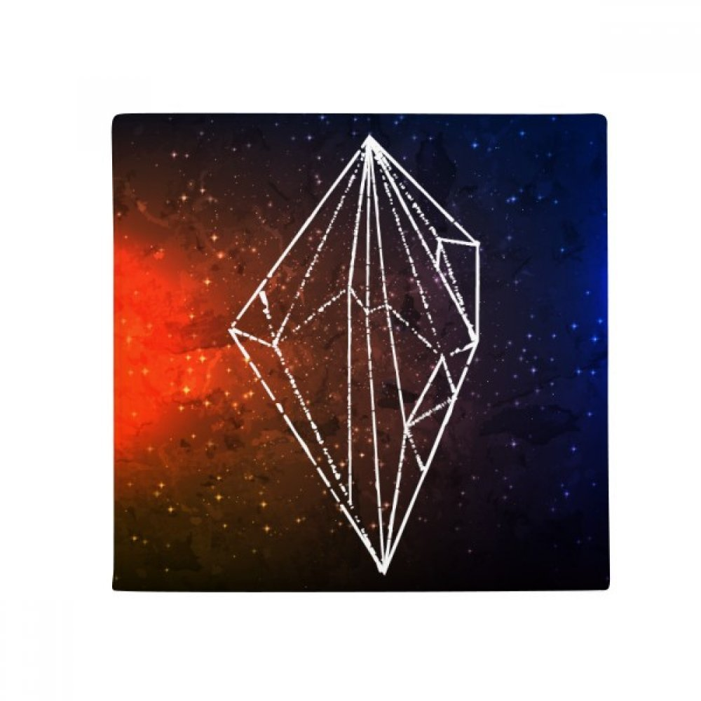 DiYthinker Brown Crystal Universe Sky Fantasy Star Anti -Slip Floor Pet Mat Square Home Kitchen Door 80Cm Gift
