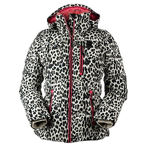 Obermeyer Leighton Womens Insulated Ski Jacket - 8/Leopard [並行輸入品]