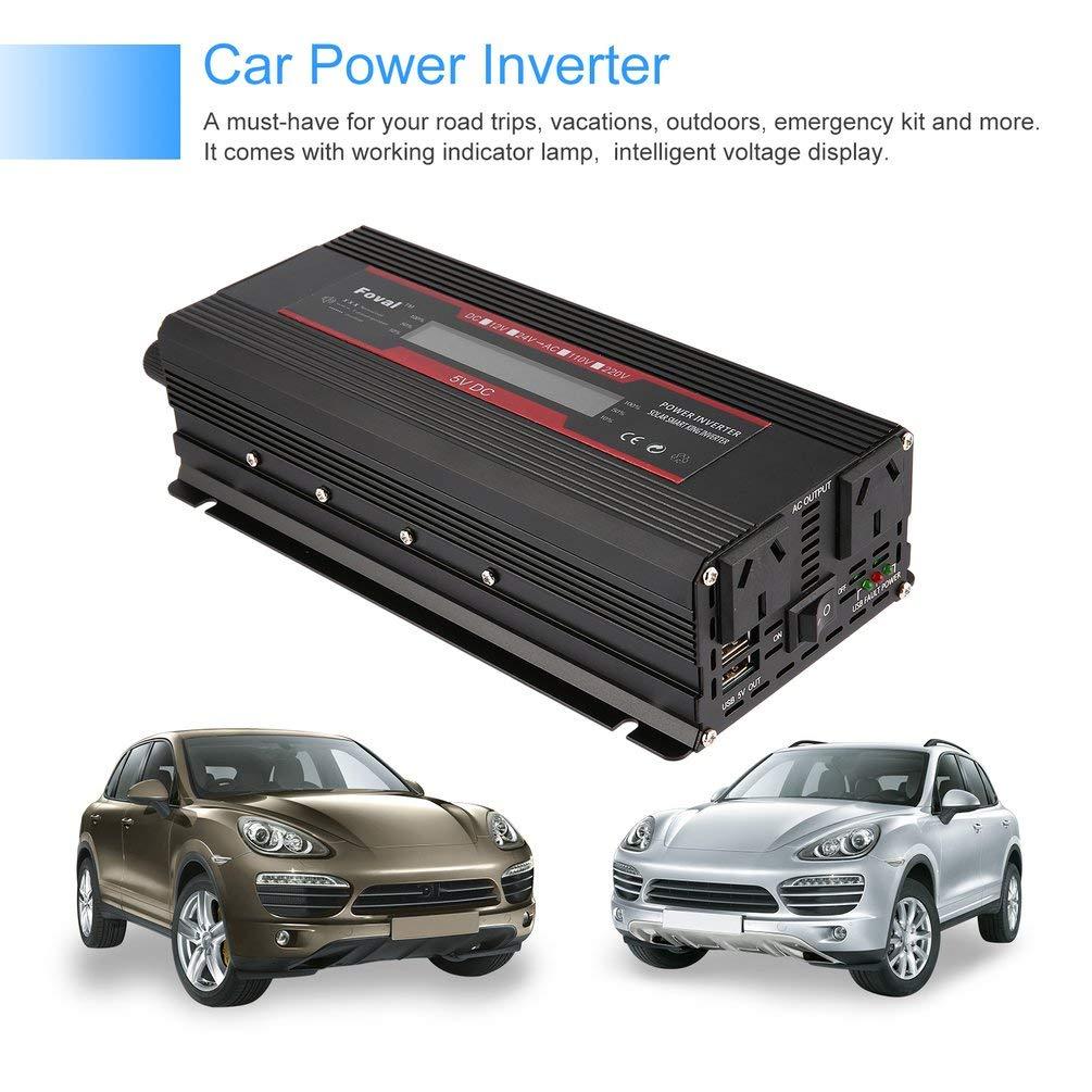 Oyamihin Universal Short Circuit Overload Protection Car Solar Power Inverter DC 12/24V to AC 220V Modified Sine Wave Converter: Amazon.es: Electrónica