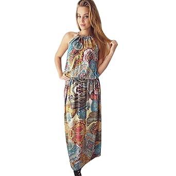 Anglia Tackle Mujer Vestido Verano Vintage sunday77 mujeres vestido de San Valentín Día Boho largo Maxi