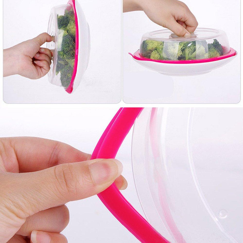 tapa para microondas placa de la cubierta salpicaduras de ventilaci/ón xinxinyu pantalla Borrar cocina seguro de ventilaci/ón A Microondas tapa para alimentos