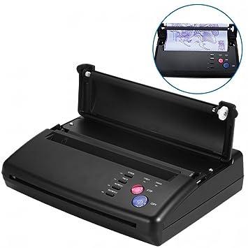 Transferencia de tatuajes profesional, Tattoo transferencia maquina de tatuaje impresora copiadora de plantilla para impresora de papel(EU)