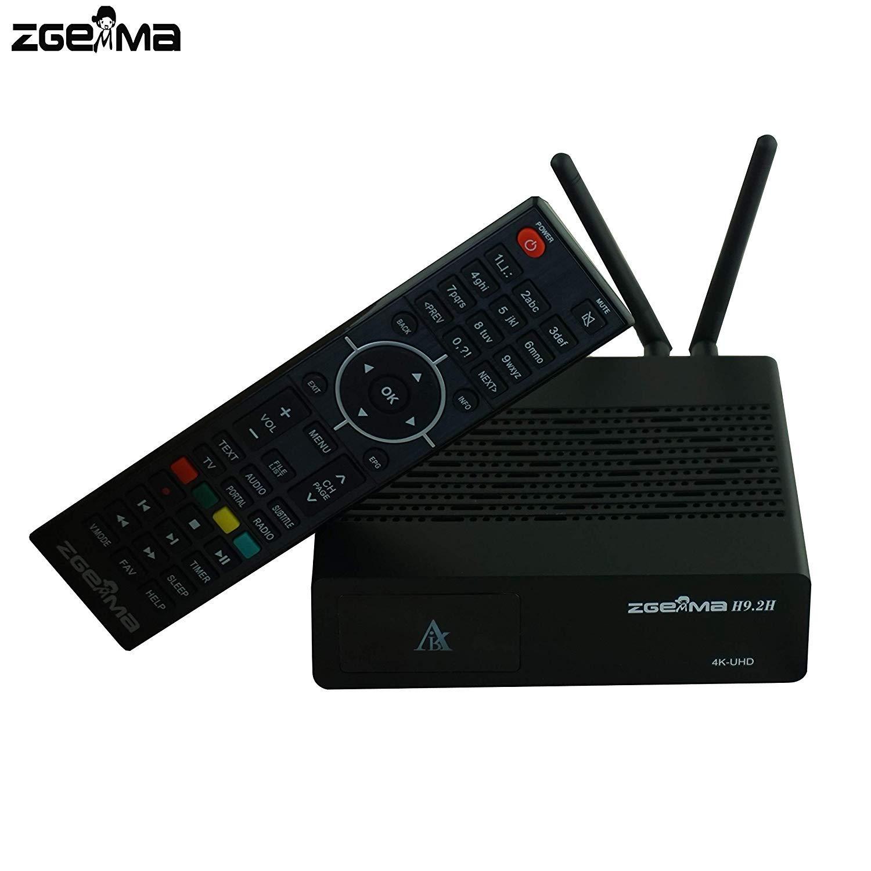 Zgemma Zedo H9.2H con DVB-S2X+DVB-T2//C E2 4K UHD Combo Receptor de sat/élite 300 Mbps WiFi Integrado