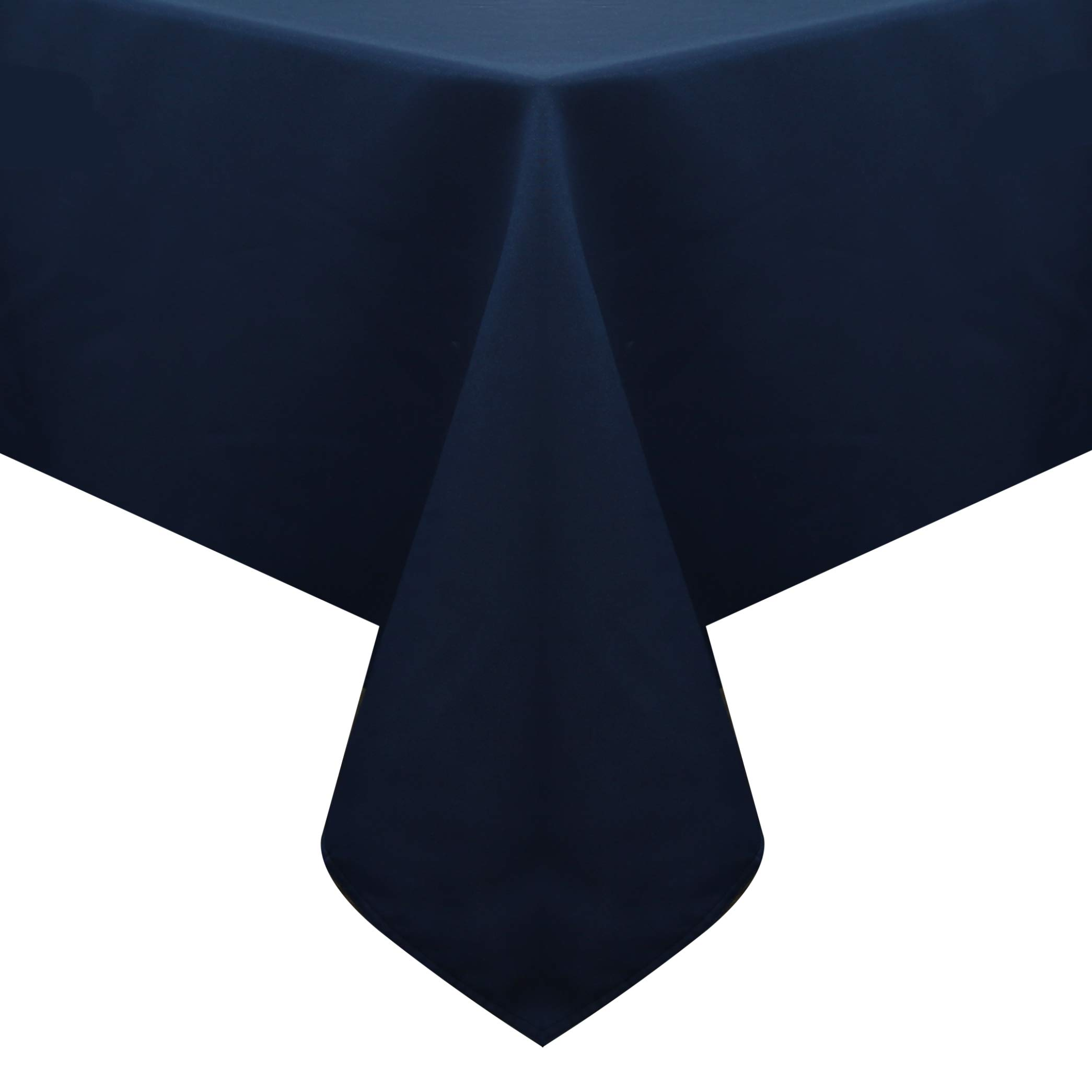 Obstal Rectangle Table Cloth, Oil-Proof Spill-Proof and Water Resistance Microfiber Tablecloth, Decorative Fabric Table Cover for Outdoor and Indoor Use (Navy Blue, 60 x 84 Inch) by Obstal (Image #2)