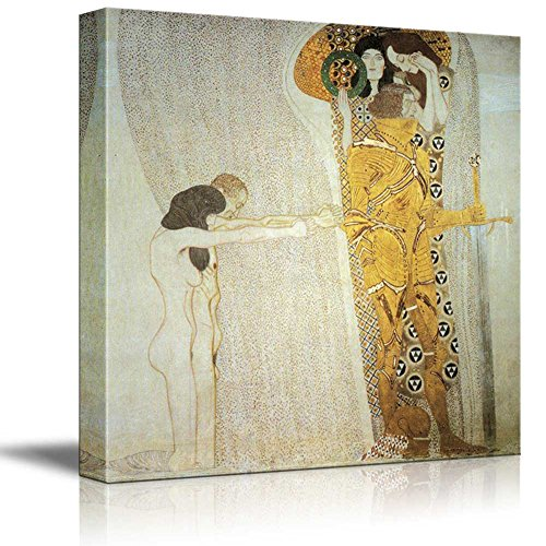 The Beethoven Frieze The Longing for Happiness by Gustav Klimt Austrian Symbolist Painter Golden Phase