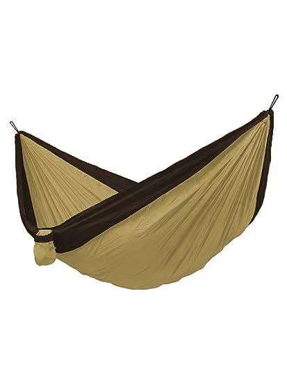 Shalinindia Camping Hammock-Nylon Parachute Fabric-Double Hammock for Backpacking Travel- Portable Outdoors Garden Hammock