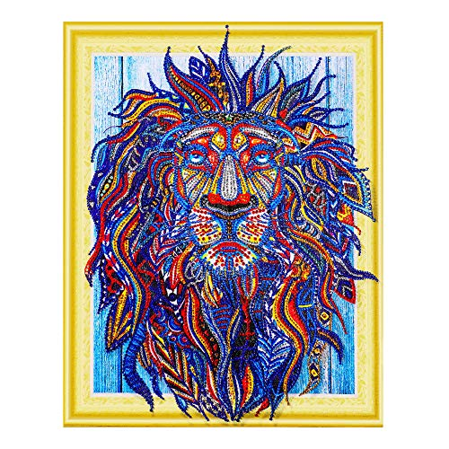 - Christmas Best Gift!!Kacowpper Special Shaped Diamond Painting DIY 5D Partial Drill Cross Stitch Kits Crystal R