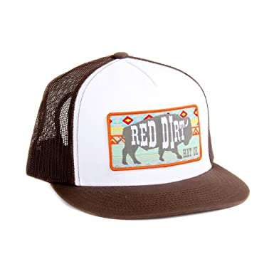 6238b668e8b Image Unavailable. Image not available for. Colour  Red Dirt Hat Co. Men s  White and Brown Aztec Buffalo Cap