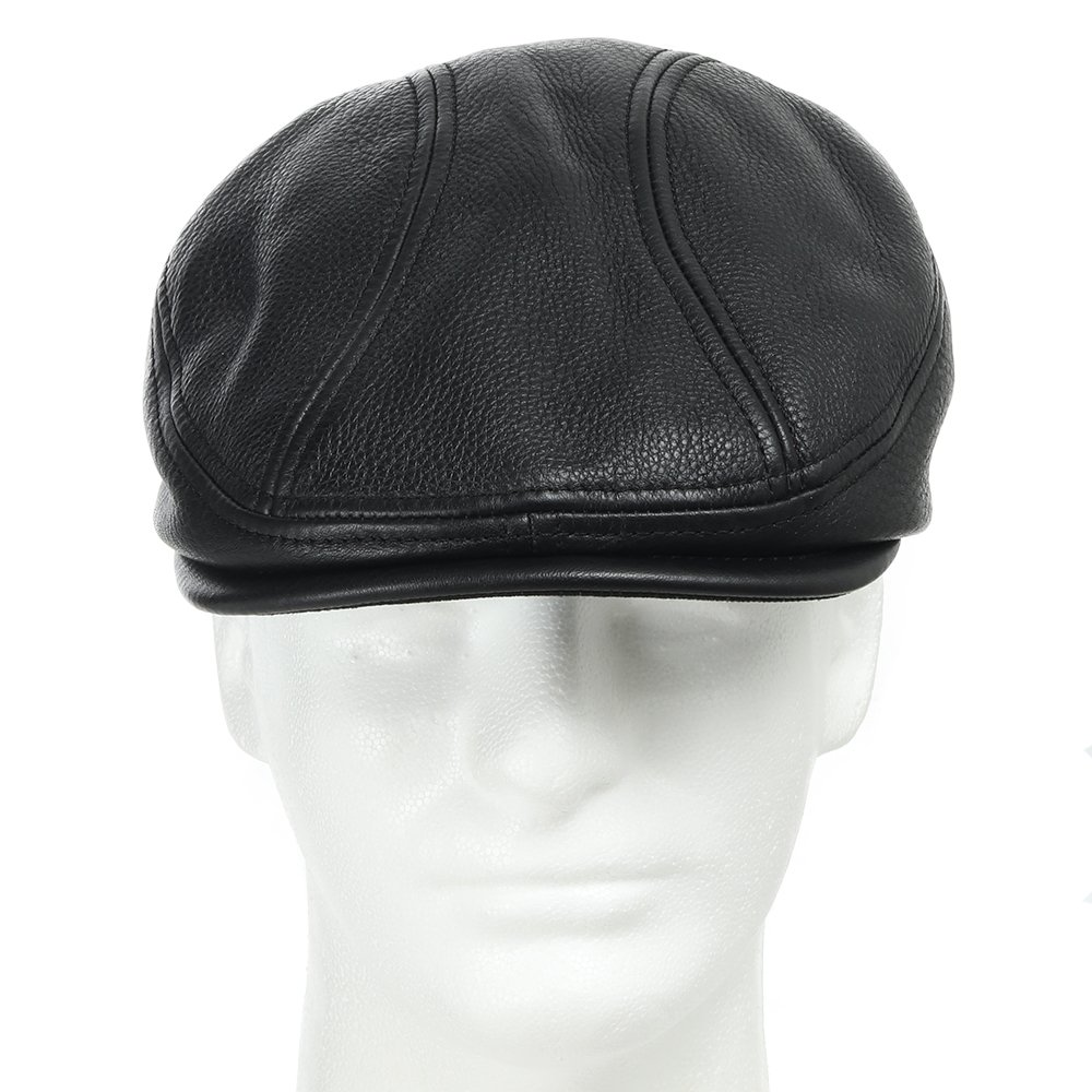 STOCKTON DRIVING CLASSIC Leather Ivy Unique Caps Hat 7 1/8 by Ultrafino (Image #3)