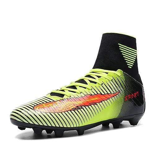 ASHION Niños Botas de fútbol para niños profesionales Zapatos de fútbol al aire libre Zapatillas de