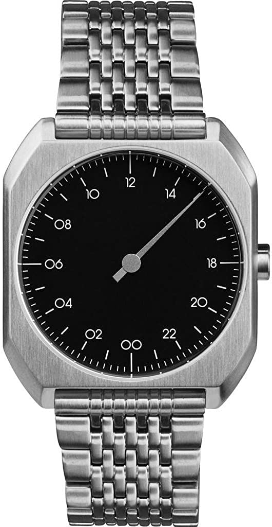 slow Mo 02 – Swiss Made one-hand 24 hour watch – Silver steel