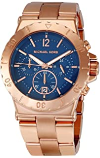 Michael Kors MK5410 Womens Chronograph Dylan Rose Gold-Tone Stainless Steel Bracelet Watch