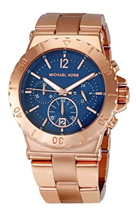 Amazon Com Michael Kors Mk5410 Women S Chronograph Dylan Rose Gold