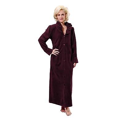 RAIKOU Women Velour Robe Ladies Warm Dressing Gown Loungewear ...