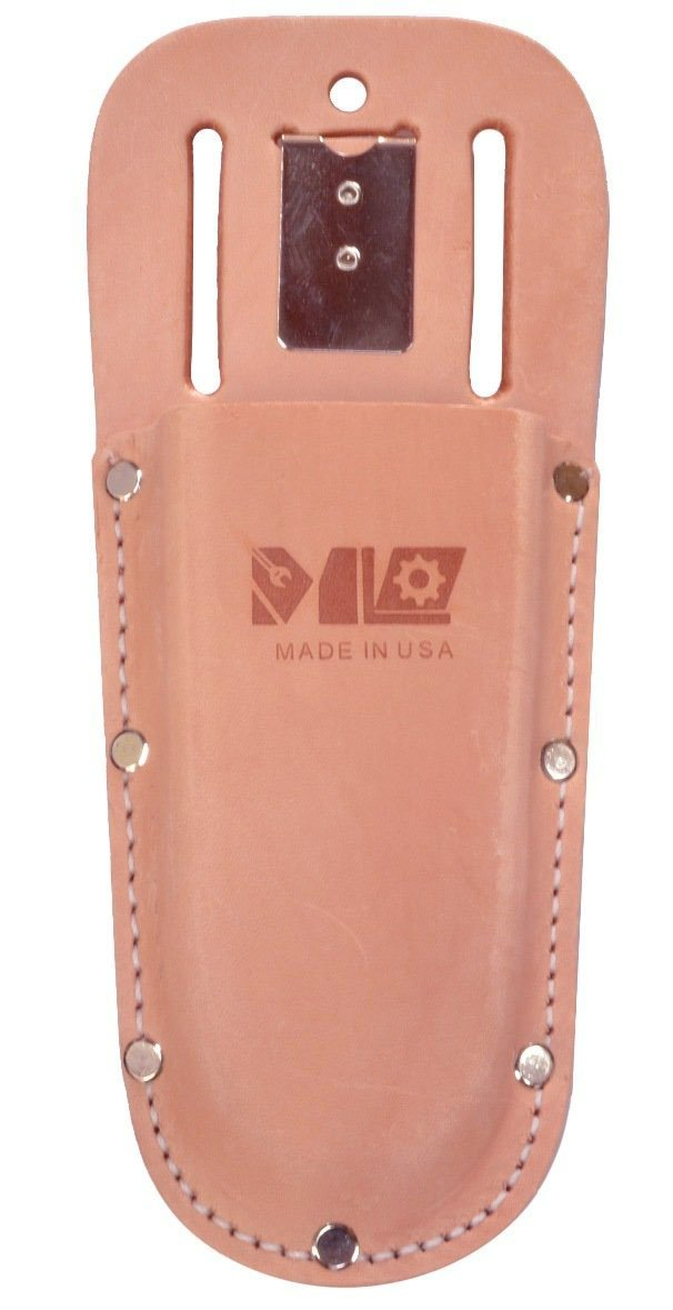 MLTOOLS Leather Holster for Pruning Shears - Made in USA - ML Garden Tools Leather Holster for Hand Pruners P8235