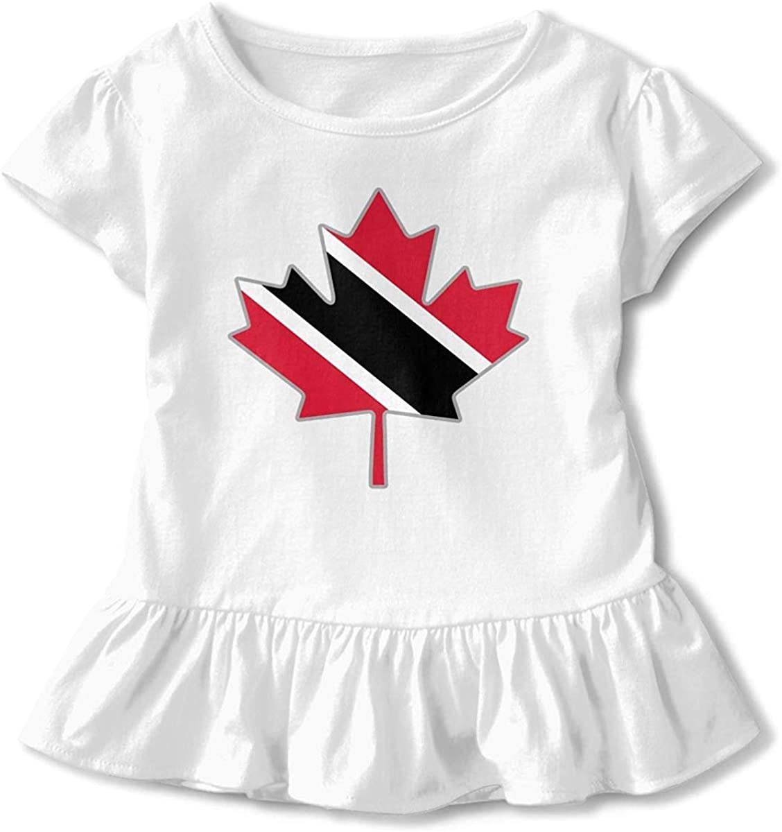 Toddler Baby Girl Trinidad Flag Canada Maple Leaf-1 Funny Short Sleeve Cotton T Shirts Basic Tops Tee Clothes