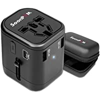 Travel Adapter Universal International Power Adapter Snel USB-lader met 1 type C en 3 USB-poorten Alle in één wereldwijd…