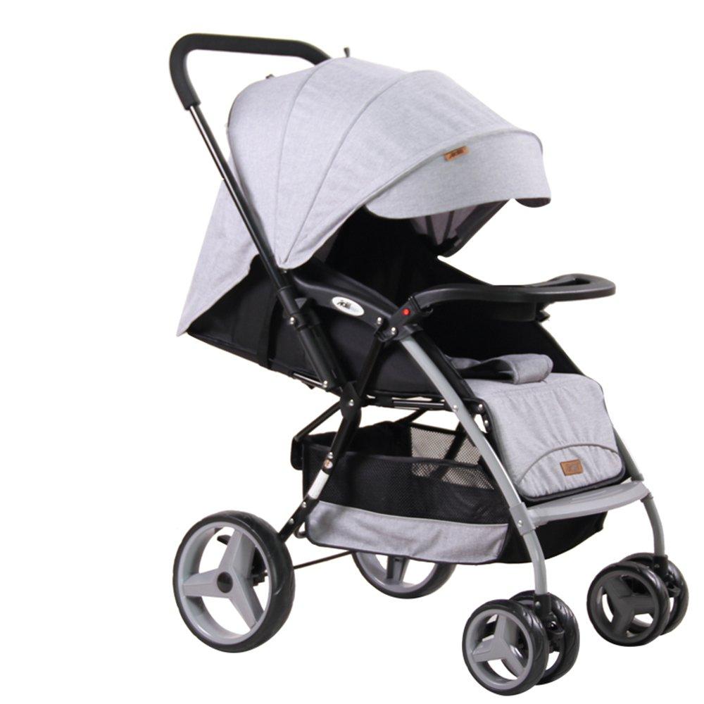 ベビー用のベビーカーは、ベビーカー、トロリー、ベビー用の傘、折り畳み式ベビーカー、 (色 : Gray)  Gray B07J3FF7XQ