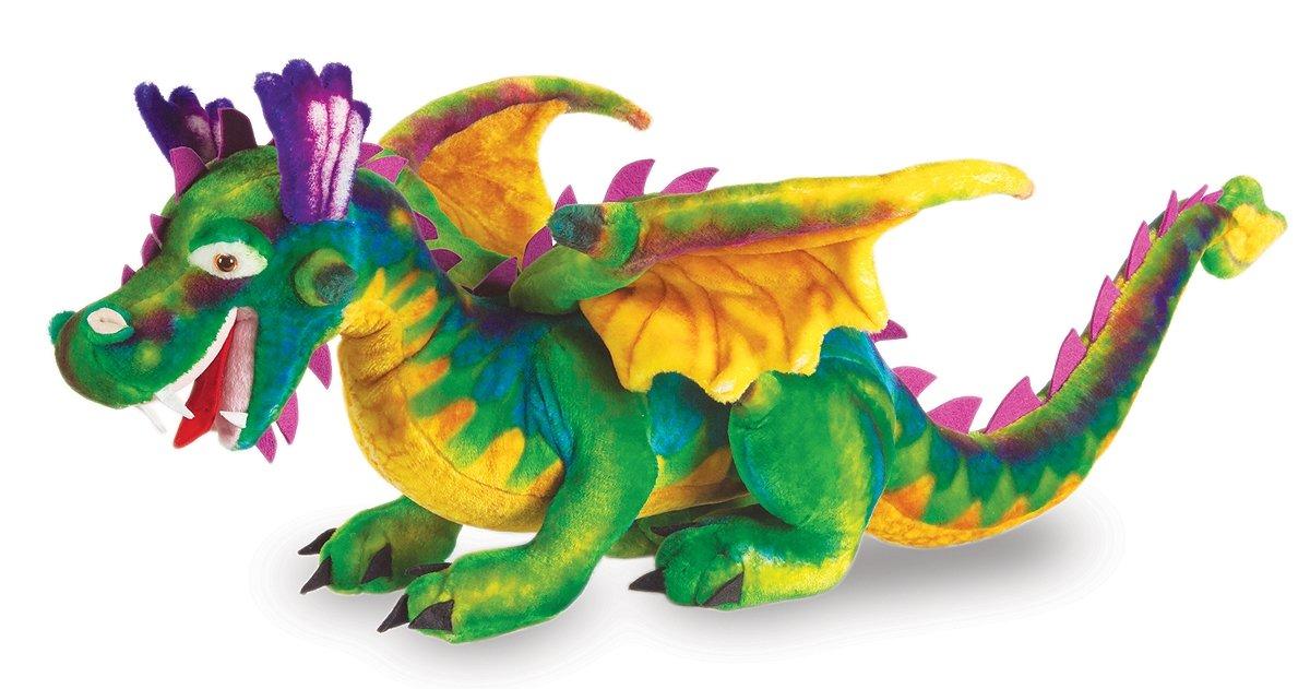 Amazon Com Melissa Doug Giant Dragon Stuffed Animal Over 3 Feet