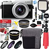Panasonic LUMIX GX850 4K Mirrorless 16MP Silver Digital Camera w/ 12-32mm F3.5-5.6 MEGA O.I.S. Lens Bundle includes 32GB microSDHC Memory Card, Tamrac Bag, Spider Tripod, 37mm Filter Kit, and More!