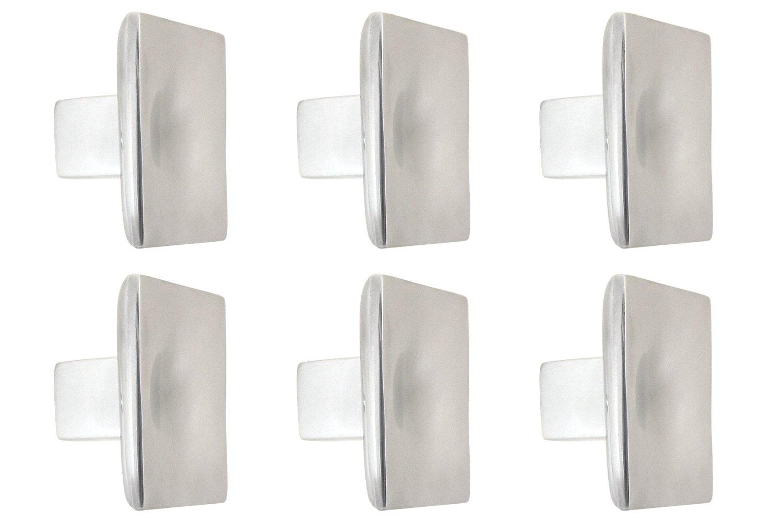 L'agape Set de Pomos para Muebles, Cajones, Aluminio Reciclado, Plateado, 4.50x4.50x3 cm, 6 Unidades L' Agape PO2PLA AL X6