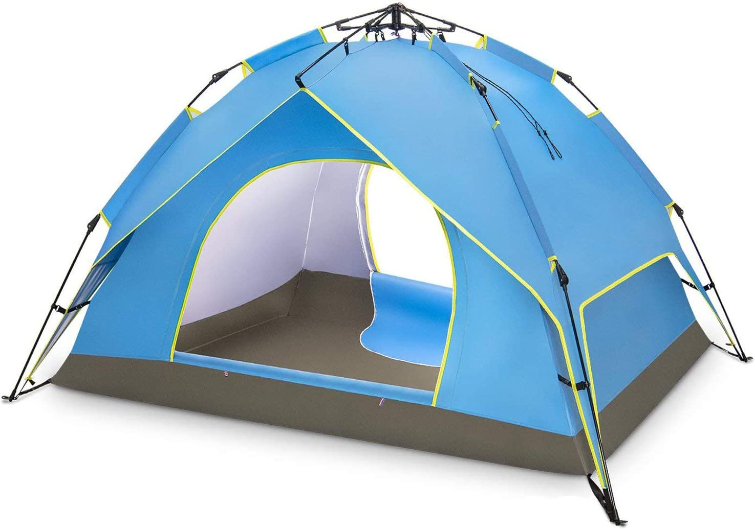BATTOP 4 Person Family Camping Tent, 3