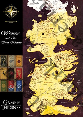 Kamisco: Seven Kingdoms Map Game Thrones Poster: Posters