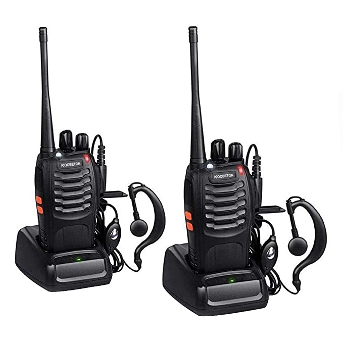 KOOBETON Walkie Talkie, KT-888S Two Way Radios Built in LED Torch for Camping Hiking Hunting Travelling Communication Walkie Talkies (2pcs Pack)