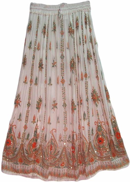 Yoga Trendz - Falda larga con lentejuelas indias (3 piezas ...