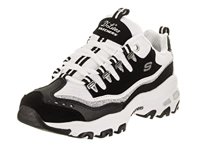 bea6e89c2149 Skechers D Lites New Retro Womens Sneakers Black White 6.5  Amazon ...