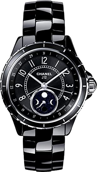 3ce8148d4235 Chanel J12 Black Ceramic Moonphase Unisex Watch H3405  Chanel  Amazon.ca   Watches