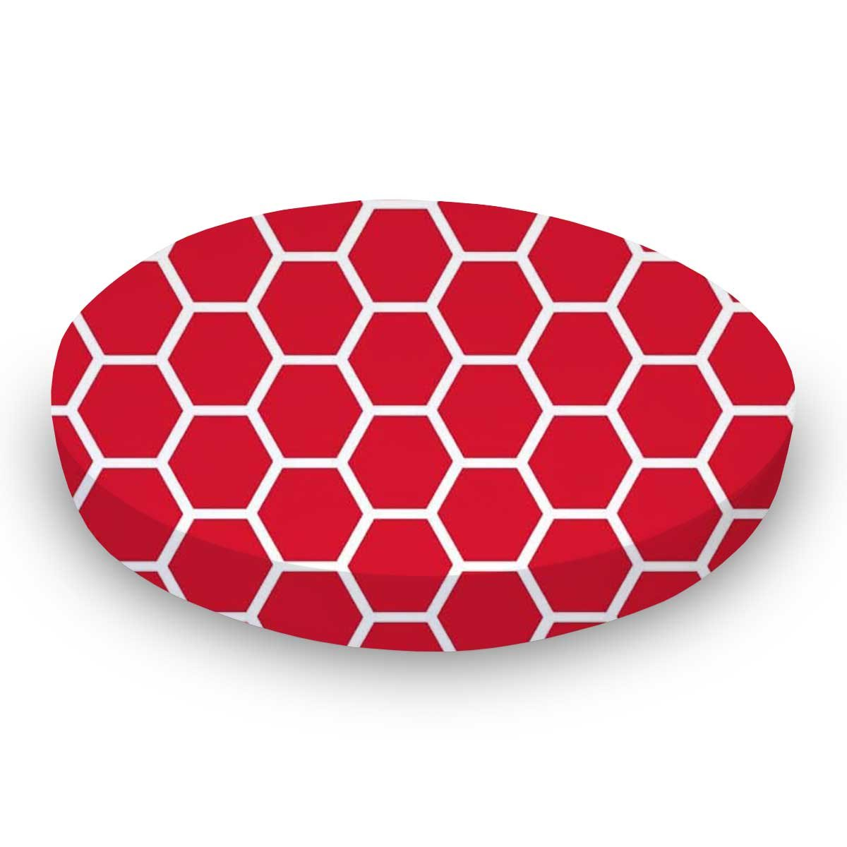 - Burnt Orange Honeycomb Stokke Mini SheetWorld Fitted Oval Made In USA
