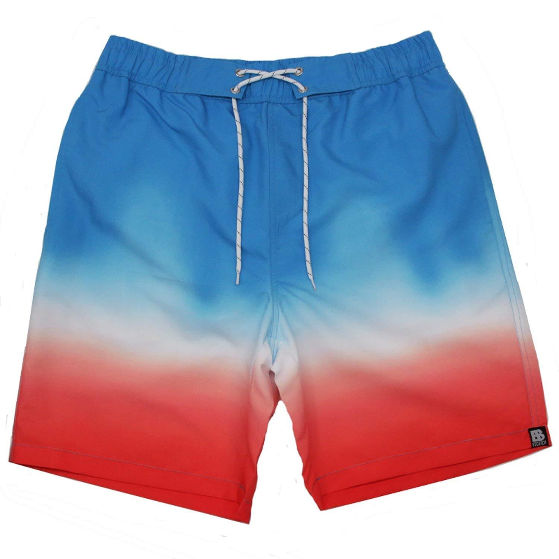 Heroic spirit New Summer Men Swimwear Sunga Beach Board Leisure Shorts Gradient Color Swimsuit Sports Sweatpants