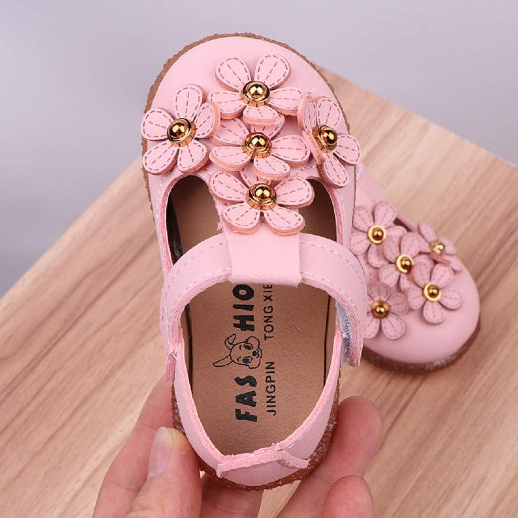 Los Primeros Zapatos para Caminar del beb/é para 0-2 a/ños Auxma Zapatos de la Princesa Flor de los beb/és ni/ñas