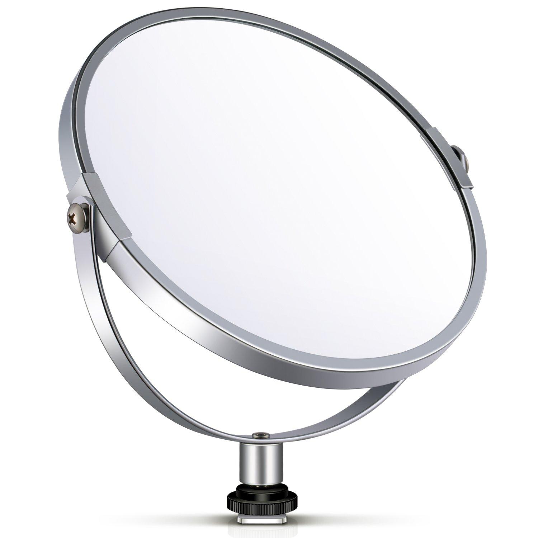 """Neewer Specchio Circolare 20cm per Selfie Truccatura d'Ingrandimento a Doppio Lato di Vetro con Adattatore per Luce Anulare 46cm/18"""", Selfie, Ritratti & Truccatura 10089834"""