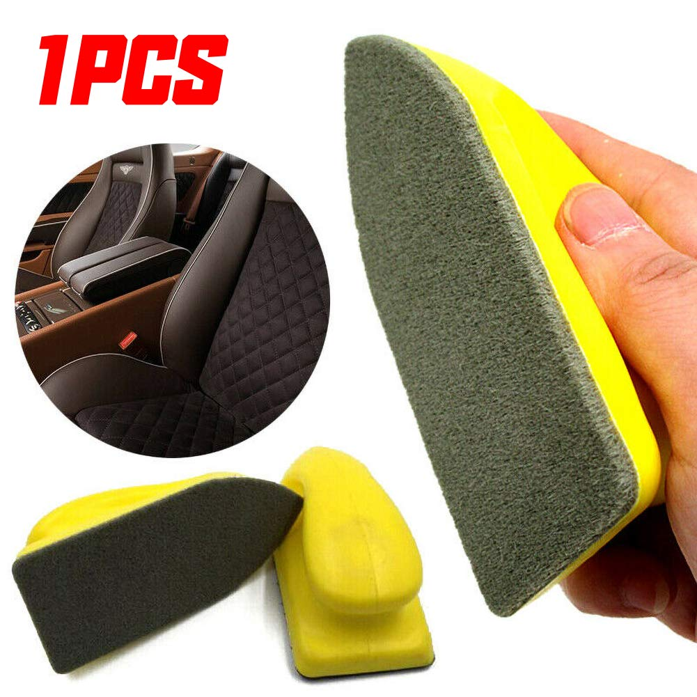 JUST N1 Car Seat Brush Leather Brush Nano Care Detailing Cleaning Brush Auto Interior Washing Tool Accessories for Truck RV Vehicle Styling Furniture Couch Boot Sofa