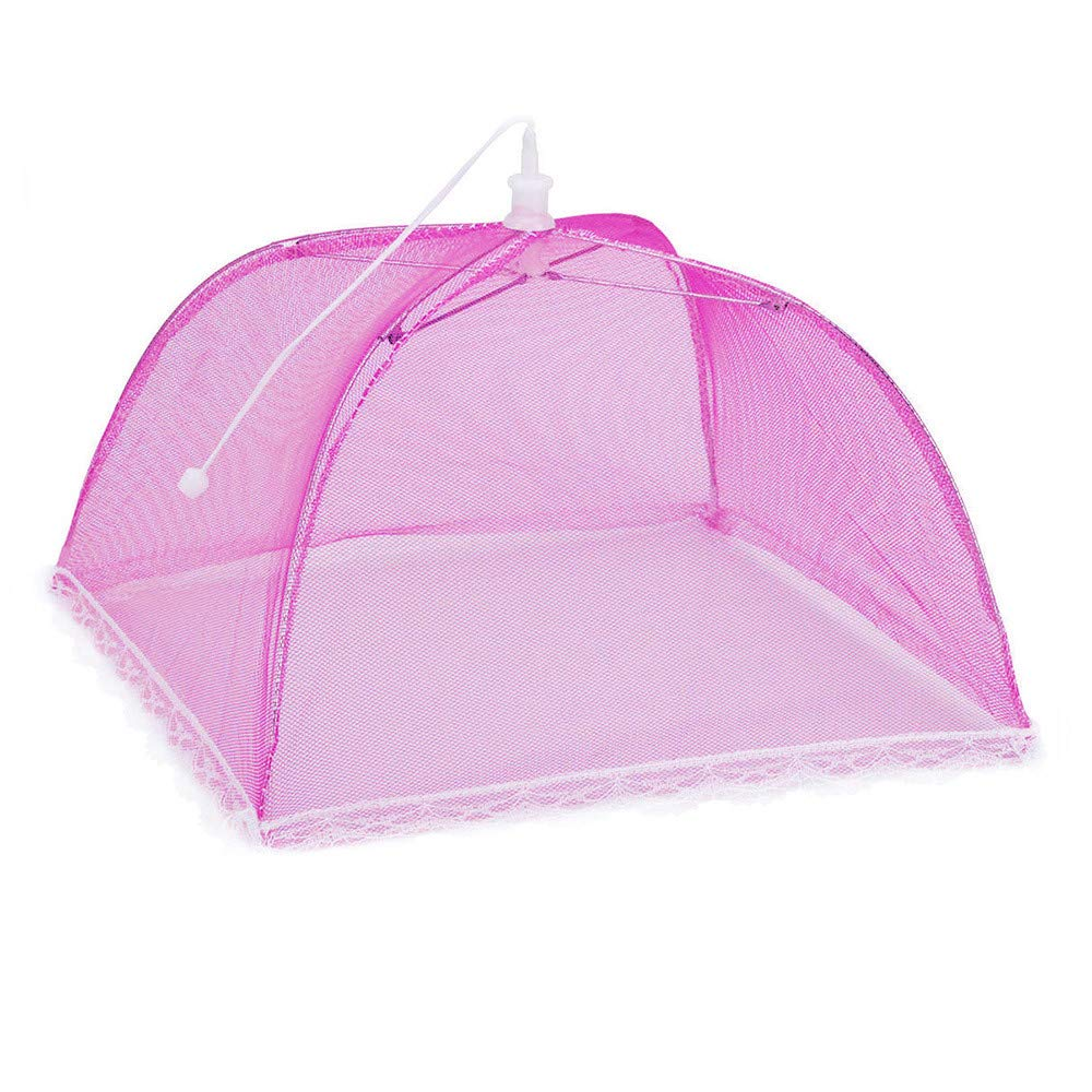 Hisoul Food Cover Tents - Collapsible and Washable Pop Up Mesh Screen Food Cover Tents Picnic BBQ Plate Umbrella Protector - Food Protector Tent Keep Out Flies, Bugs, Mosquitoes (Random) by Hisoul (Image #4)