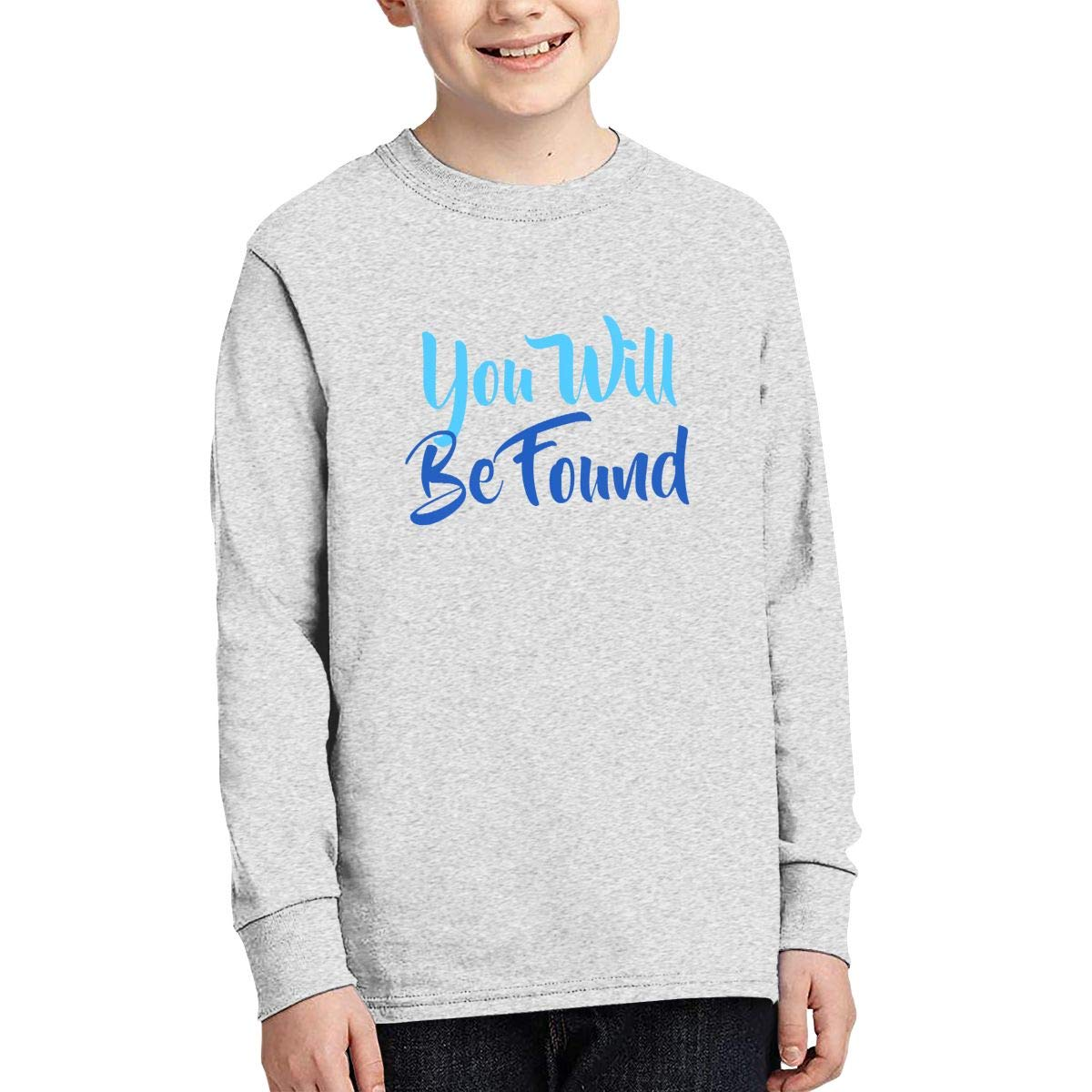 Vnmwertpl You Will Be Found Long Sleeve Teen Boys Girls Teenage Tee Shirts