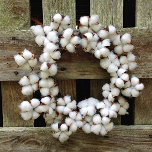 """Flora Décor Vintage Faux Cotton Wreath 14"""""""