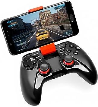 Controlador de Juego, viflykoo 2,4 GHz inalámbrico Bluetooth Gamepad 3D Joystick con Ajustable teléfono Soporte para teléfono Android Tablet, Windows PC, PS3, Smart TV, Samsung VR: Amazon.es: Electrónica