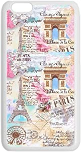 Print with Eiffer Tower Stamp 2 Thin Pc Cases for Boys Use for 5.5 iPhone 6 Plus Apple Choose Design 128-5