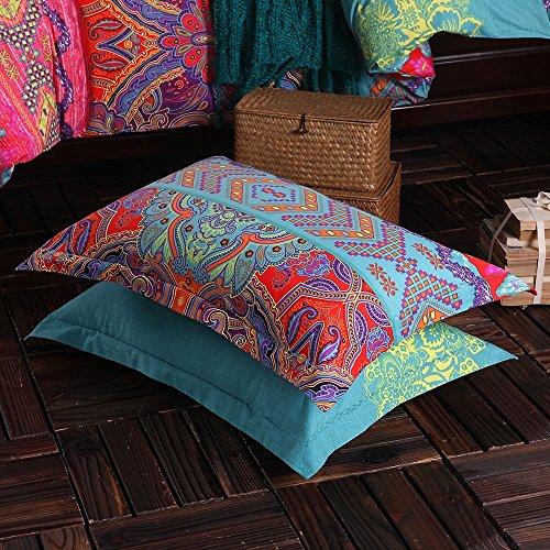 Abreeze 4-Piece Colorful Bohemian Duvet Covers Exotic Boho Bedding Queen by Abreeze (Image #3)'