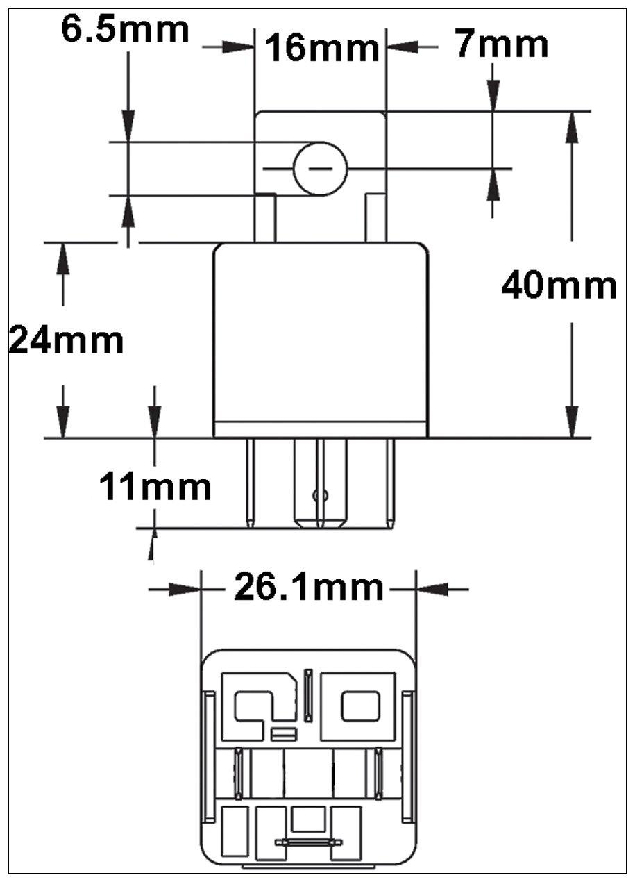 Hella 003510087 30 Amp 12v Mini Spst Relay With Bracket Transistor Driver Circuit Automotive