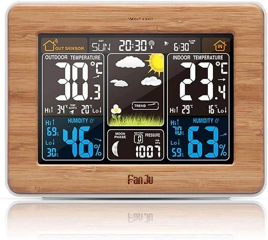 ZMCW Despertador Estación meteorológica Temperatura Humedad Sensor ...