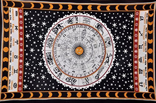 TSE Zodiac Sign Astrologic Tapestry, Psychedelic