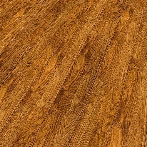 Laminate Floor Color Black Walnut Gloss Finish ELESGO 20.66 Sq.Ft.-MADE IN GERMANY (Black Walnut Flooring)