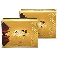 Lindt 瑞士莲 薄片黑巧克力礼盒装 125g*2(瑞士进口)(亚马逊自营商品, 由供应商配送)