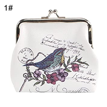 Monedero para Mujer, diseño de búho, Elefante, Jaula de pájaros ...